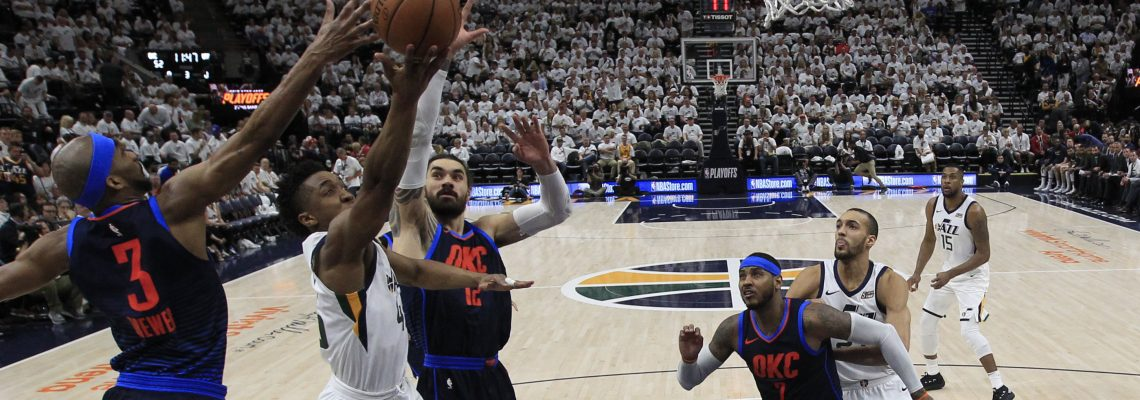Mitchell helps Jazz beat Thunder, inch closer to semifinals