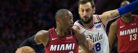 103-113. Wade surge con su versión de estrella y los Heat dominan a os Sixers
