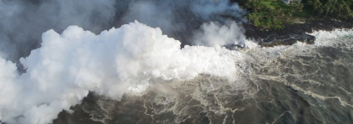 Toxic cloud rises over Hawaii as volcano's lava flows into ocean