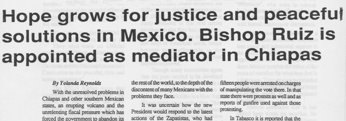 Hope grows for justice and peaceful solutions in Mexico