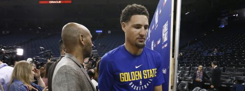 Klay Thompson optimistic about playing in Game 2 despite injury