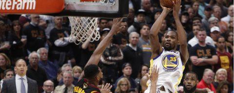 102-110. Kevin Durant fue mejor que LeBron James y Warriors están a un triunfo del título