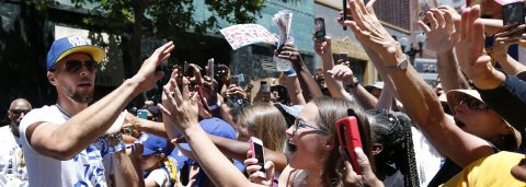 Warriors celebrate their third NBA title with parade in Oakland