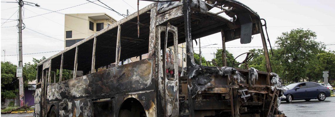 Two men shot dead, seven die in blaze in Managua