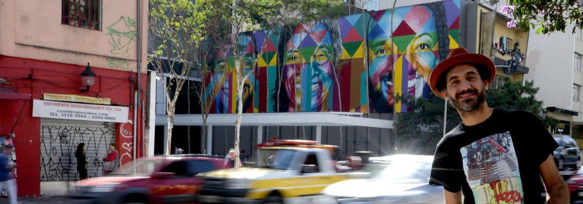 Brazilian graffiti artist Kobra unveils new mural in Sao Paulo