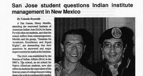 San Jose student questions Indian Institute management in New Mexico
