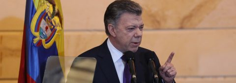 Colombian president welcomes ex-rebels as members of Congress