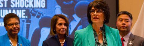"""Congresistas constatan """"la crueldad"""" de la separación familiar en la frontera"""