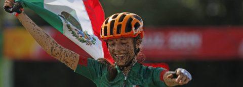 La mexicana Campuzano se cuelga el oro en la prueba de ciclismo de montaña