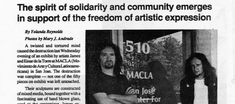 From destruction and mayhem at MACLA: The spirit of solidarity and community emerges in support of the freedom of artistic expression