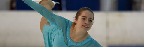 Ecuadorian ice skater chases 4th international title inspired by tango