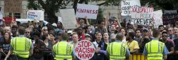 About 20 neo-Nazis protest at White House surrounded by counterdemonstrators