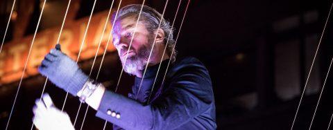"Musical instrument inventor William Close plays ""architectural music"""