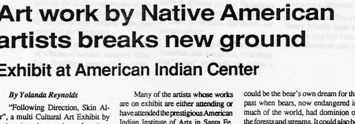 Art work by Native American artists breaks new ground