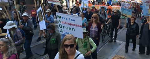 Thousands march ahead of climate summit in San Francisco