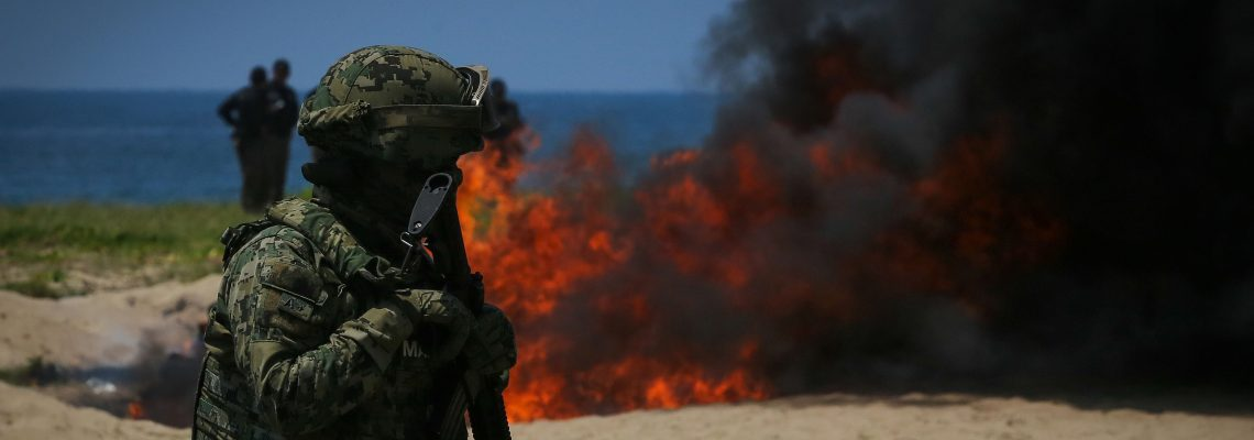 Mexico incinerates tons of seized cocaine and marijuana in Acapulco