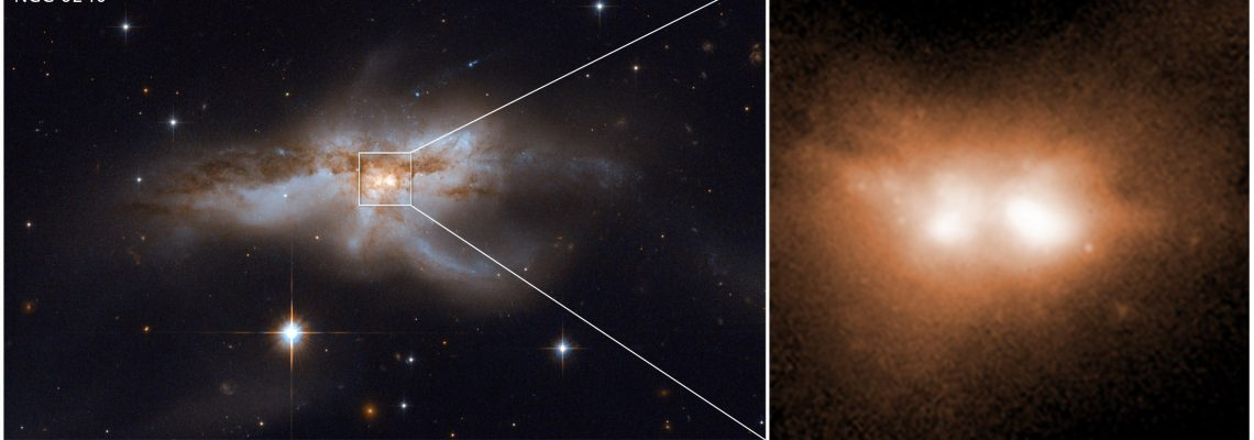 Astronomers find relationship between colliding galaxies, black holes