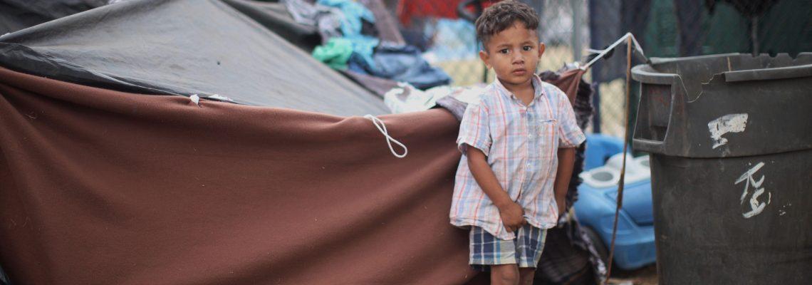 Children, the other side of the migrant caravan in Tijuana