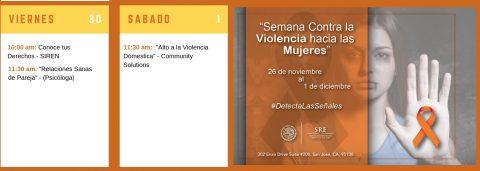 Consulado a tu lado: Contra la Violencia hacia las Mujeres