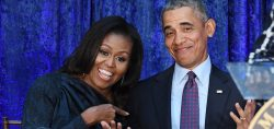 Barack Obama makes cameo appearance at Michelle's book promo
