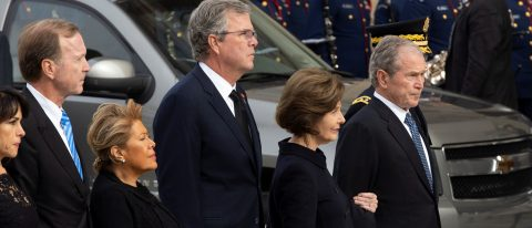George W. Bush recalls father's love of life, ability to laugh at himself