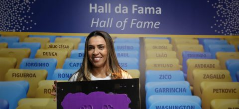 Marta becomes 1st woman honored at temple of Brazilian soccer
