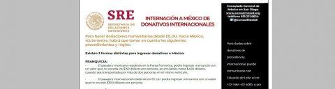 Consulado a tu lado: Donaciones efectivas