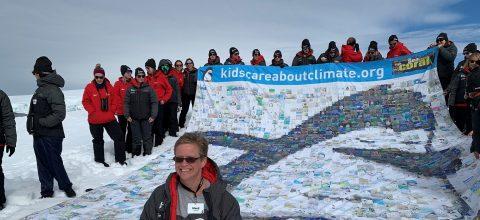 Scientist brings kids' views of climate change to Antarctica