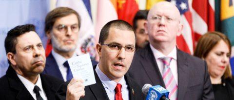 """Arreaza dice que Guaidó no controla nada y que su """"golpe"""" ha fracasado"""
