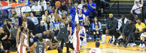 120-118. Warriors ganan con suerte apretado encuentro contra los Miami Heat