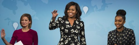 "Michelle Obama urges girls everywhere to be ""hungry"" for education"