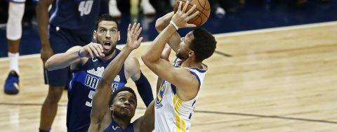 122-125. Curry sella con triple triunfo de Warriors ante Mavericks