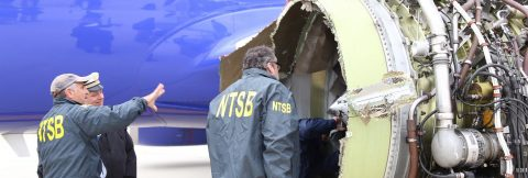 One dead after US passenger jet's engine blows up in mid-flight