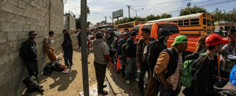 Central American migrants reach US-Mexico border in Tijuana