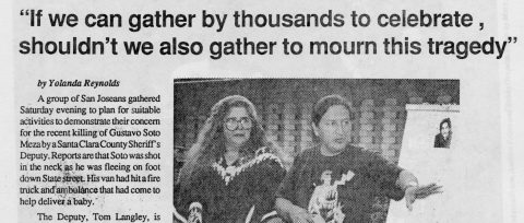 """""""If we can gather by thousands to celebrate, shouldn't we also gather to mourn this tragedy"""""""