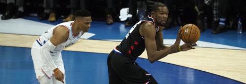 178-164. Durant lidera remontada y triunfo del equipo de LeBron