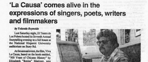 'La Causa' comes alive in the expressions of singers, poets, writers and filmmakers