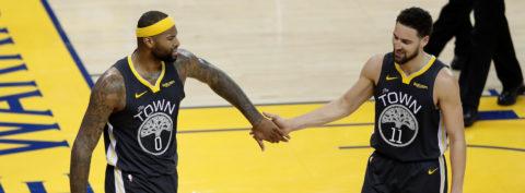 104-106.Thompson y Warriors, sin Durant, vencen a Rockets en duelo de líderes