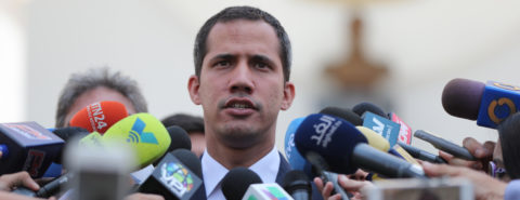 Guaido says Maduro's gov't showing weakness, Caracas has more power cuts