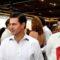 Peña Nieto aparece por primera vez en público en México con su nueva novia