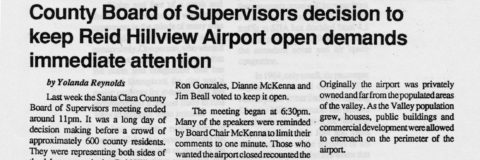 County Board of Supervisors decision to keep Reid Hillview Airport open demands immediate attention
