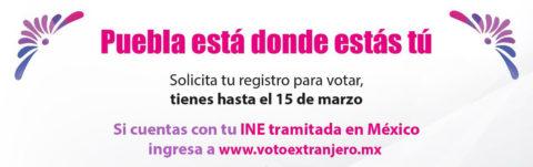 Consulado a Tu Lado: Voto para elecciones extraordinarias en Puebla. ¡Participa!