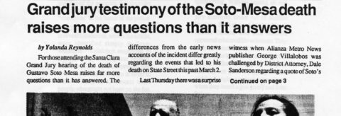 Grand jury testimony of the Soto-Mesa death raises more questions than it answers