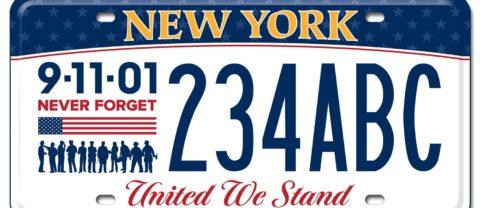 Nueva York recuerda a víctimas del 11S con una nueva matrícula de vehículos