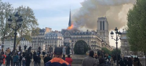Huge fire breaks out at Notre Dame cathedral in Paris